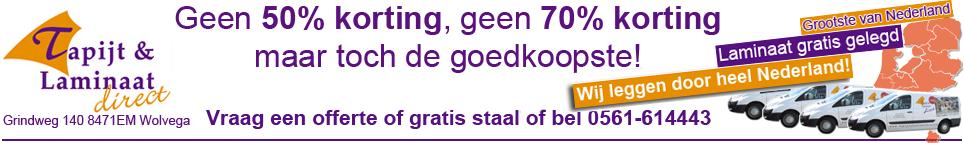 Laminaat gratis gelegd + gratis ondervloer + gratis plinten € 19,95 Wij leggen door heel Nederland