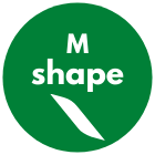 M shape