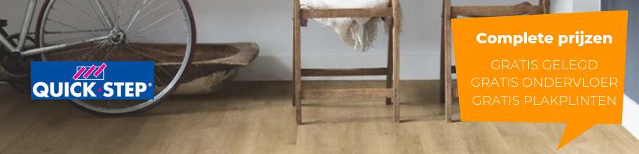 Populair Quickstep laminaat nu inclusief gratis leggen, ondervloer en SV71