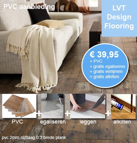 PVC vloer inclusief egaliseren NU € 39,95