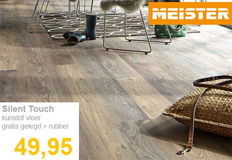 Kunststof vloerdelen vloer Meister inclusief gratis gelegd met rubber ondervloer